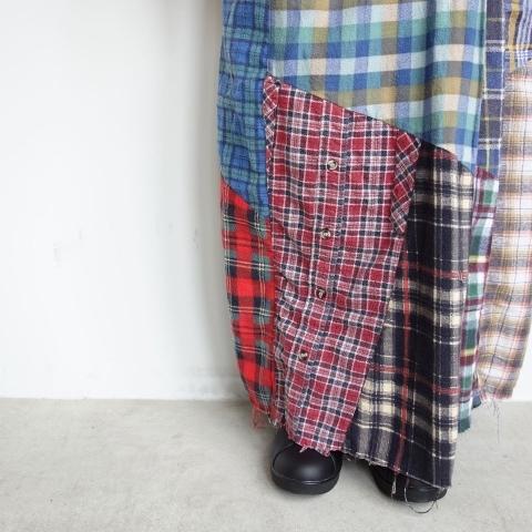 Rebuild by Needles : Flannel shirt→Wrap skirt_a0234452_16101828.jpg