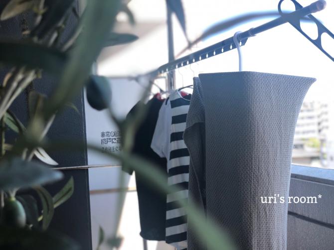 マンションの狭いベランダ、洗濯物干し事情。アイディア商品で一気に解決!!_a0341288_12364403.jpg