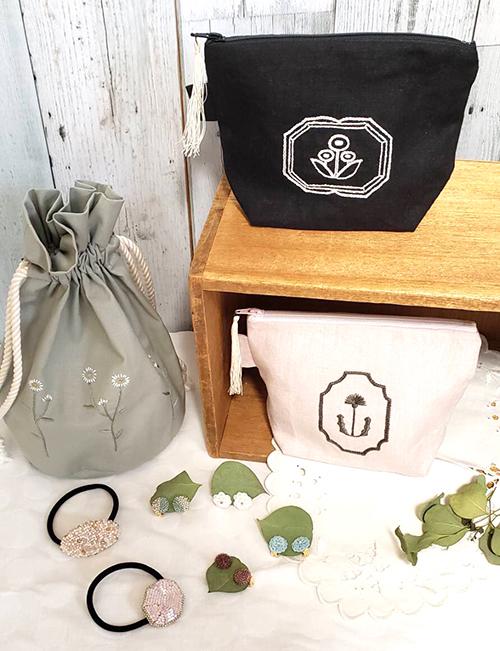 miniZ【toietmoi(トワエモア)作品展 @ miniZ】刺繍とビーズと_a0017350_04002853.jpg