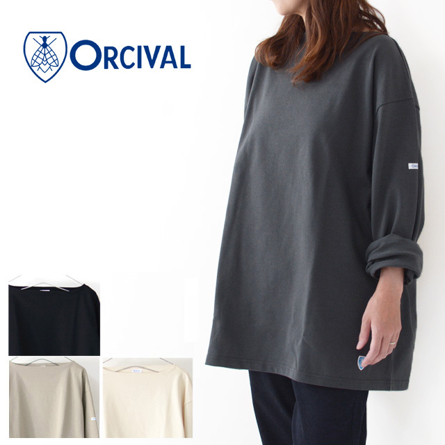 ORCIVAL [オーチバル・オーシバル] VASQUE SOLID BIGGER TEE [B211C] バスクシャツ・カットソー・無地・ MEN'S/LADY\'S _f0051306_15240112.jpg
