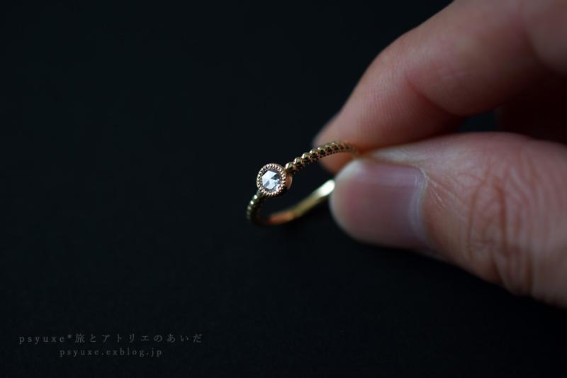 ローズカットダイヤモンドとミルグレインのエンゲージリング*静岡県 M 様_e0131432_20104661.jpg