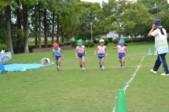 今池公園でリレーの練習♫_e0125433_13353262.jpg