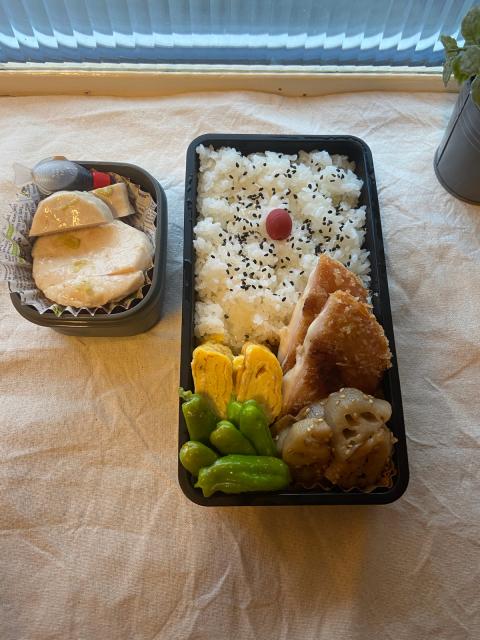 晩ご飯やらお弁当やら(チンジャーロース・余った餃子の餡を使ったおかずなど)_b0223446_12552953.jpg