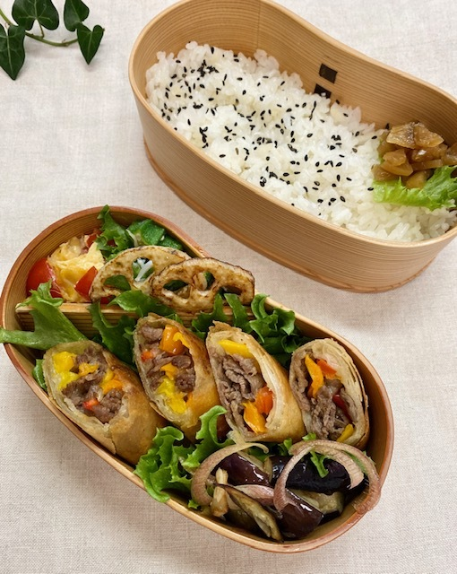lunch box  ×3 作るのが一番楽しい季節♪_a0165160_20474240.jpg
