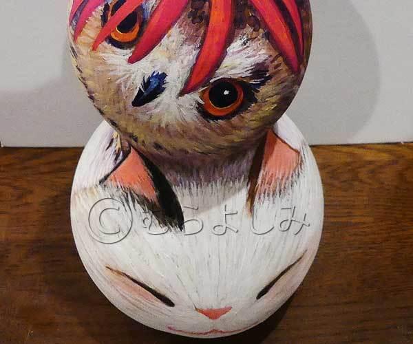 むらよしみ 猫と、フクロウを描く_c0250618_22214465.jpg