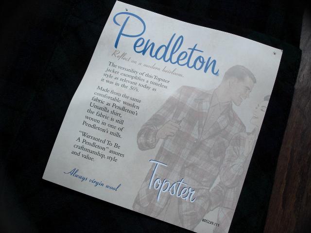 マグネッツ神戸店 9/19(土)冬Superior入荷! #5 Pendleton Shirt ,TopSter Jacket!!!_c0078587_10595233.jpg