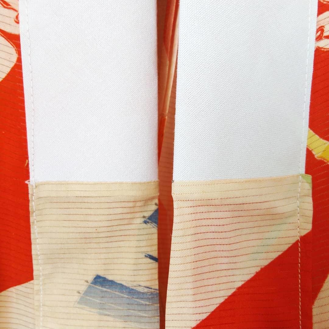200919 アンティーク絽長襦袢の襟交換と手洗い_f0164842_15192797.jpg