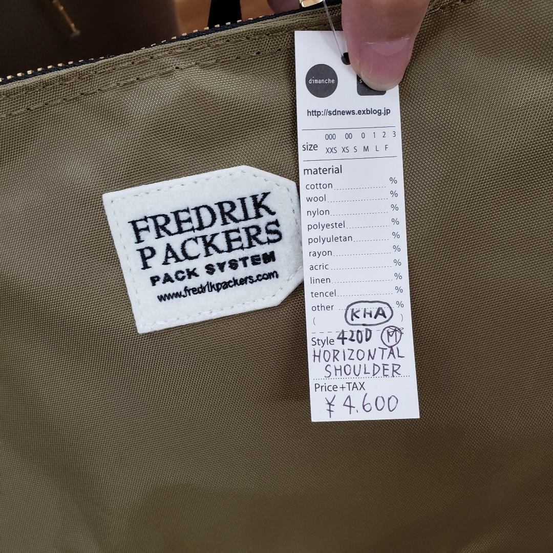 フレドリックパッカーズ バッグいろいろ入荷しました♪_e0076692_19290652.jpg