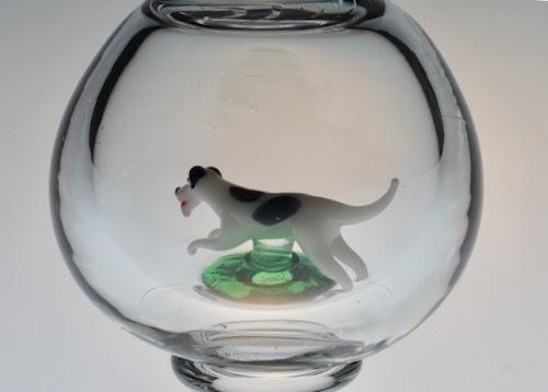 スティーブン&ウイリアムス 犬、芝生入り ゴブレット_c0108595_00144595.jpeg