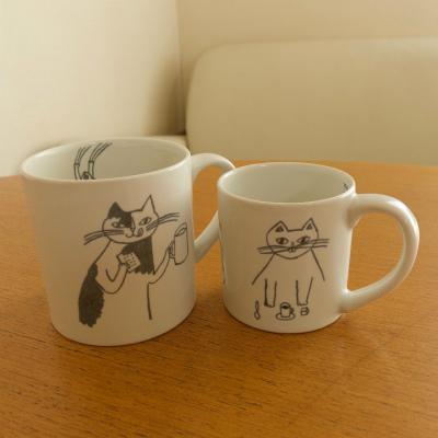 9月23日(水)からのランチプレート・猫のマグカップと鳥のお茶椀_b0102217_17244493.jpg