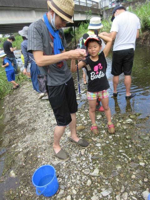 富士見町こどもサロン 空堀川で釣り!の支援をしました!_a0258102_21260648.jpg