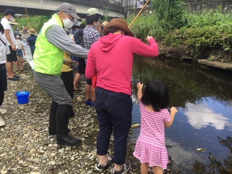 富士見町こどもサロン 空堀川で釣り!の支援をしました!_a0258102_21320307.jpg