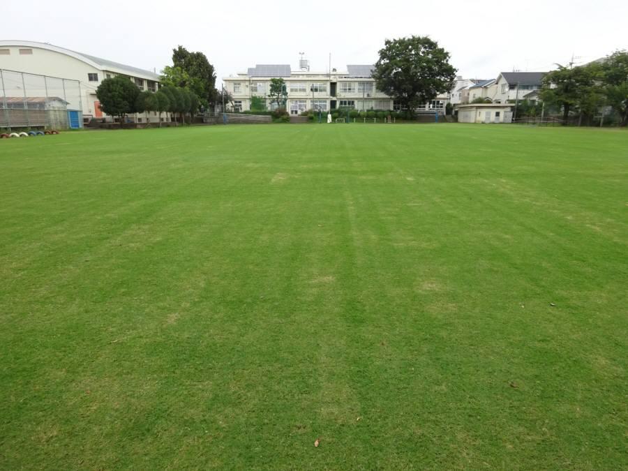 R2.9月の13小校庭芝生(冬芝の種まき終了)_f0059673_11210448.jpg
