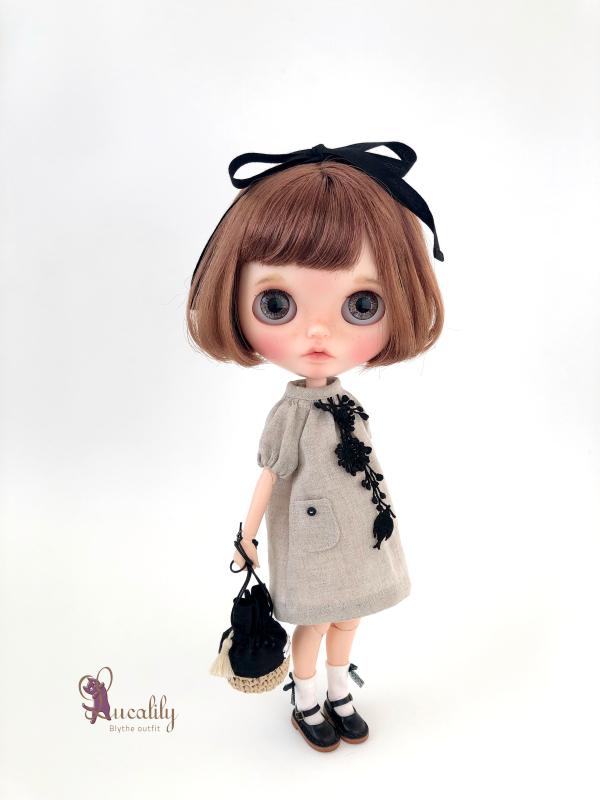 *lucalily * dolls clothes* Linen dress & Pants set *_d0217189_21250460.jpeg