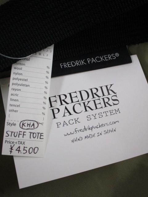 FREDRIK PACKERS フレドリックパッカーズ / STUFF TOTE _e0076692_15260697.jpg