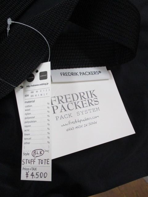 FREDRIK PACKERS フレドリックパッカーズ / STUFF TOTE _e0076692_15294864.jpg