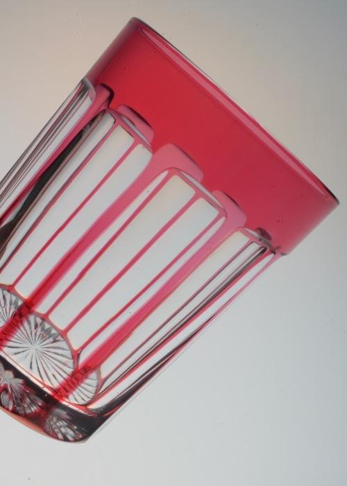 バカラ 赤被せガラス  ショットグラス_c0108595_00034678.jpeg