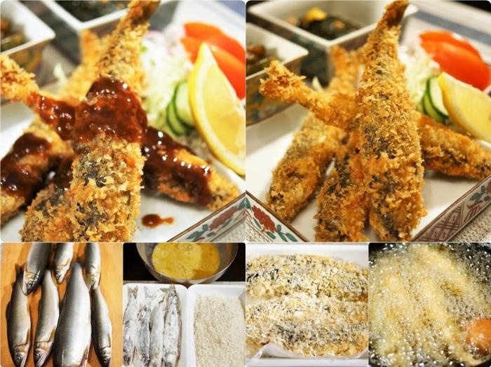 ■晩ご飯【鮎フライ】お向かいさんの釣り果(相模川の鮎を頂きました^^)_b0033423_20561781.jpg