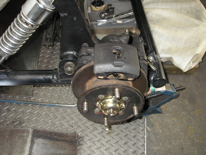 BMW  R100RS+    カー側ブレーキの取り付け_e0218639_10053499.jpg