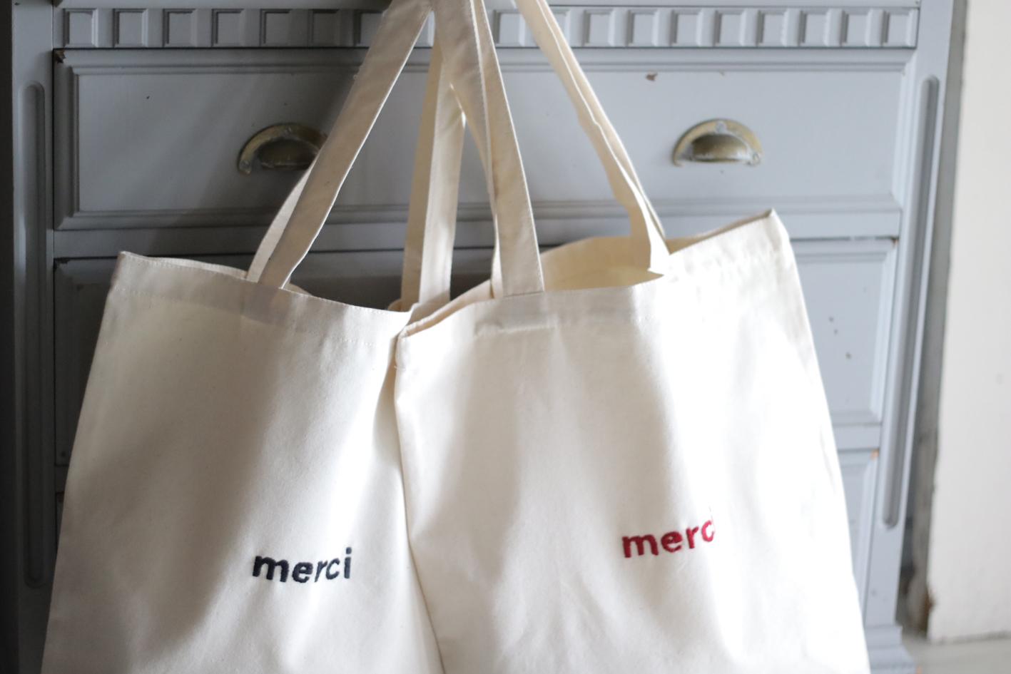 MERCI Tote Bag メルシートートバッグ koko cinema_c0281351_19125450.jpg