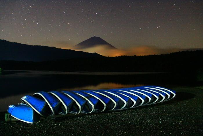 令和2年9月の富士(6) 西湖の夜の富士_e0344396_18043345.jpg
