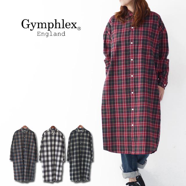 Gymphlex [ジムフレックス] 60/2ビエラ起毛チェック B.D. LONG SHIRTS [J-1176 VHC] ロングチェックシャツ・ LADY\'S _f0051306_16473629.jpg