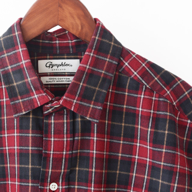 Gymphlex [ジムフレックス] 60/2ビエラ起毛チェック B.D. LONG SHIRTS [J-1176 VHC] ロングチェックシャツ・ LADY\'S _f0051306_16473725.jpg
