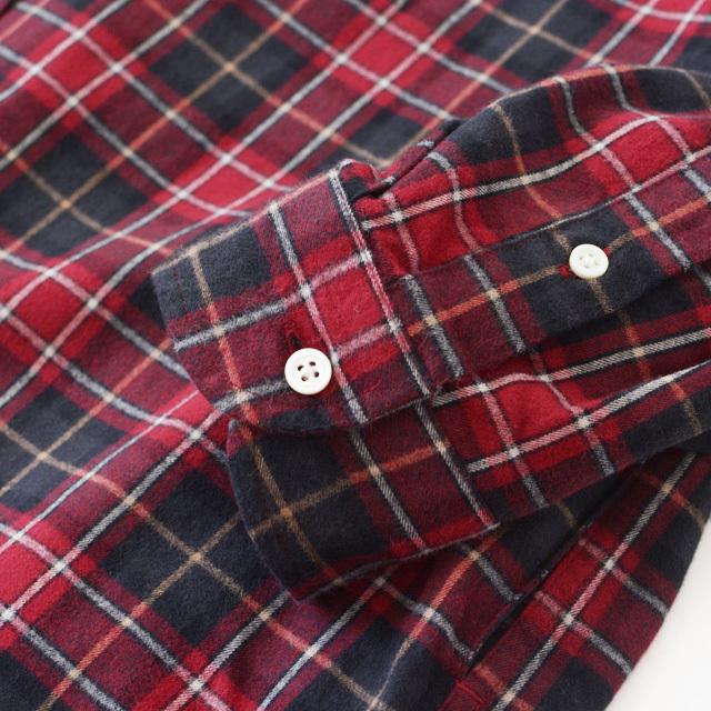 Gymphlex [ジムフレックス] 60/2ビエラ起毛チェック B.D. LONG SHIRTS [J-1176 VHC] ロングチェックシャツ・ LADY\'S _f0051306_16473771.jpg