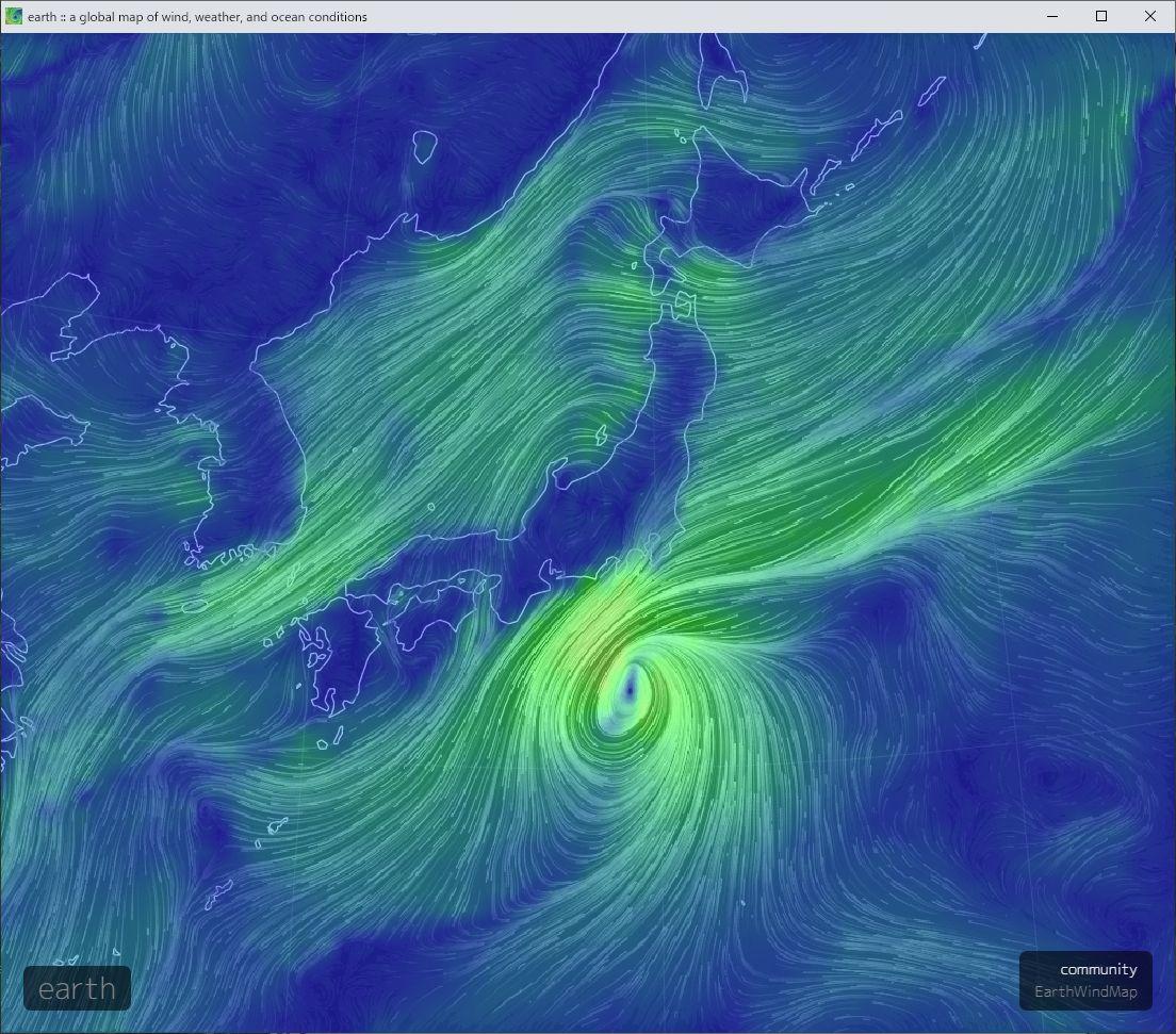 台風は海上の微妙な位置_c0025115_21393240.jpg