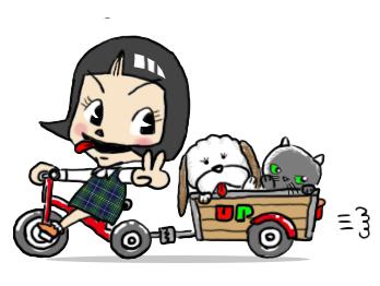 ウンコ犬と猫のぷん+ピコ_a0044064_16490378.jpg