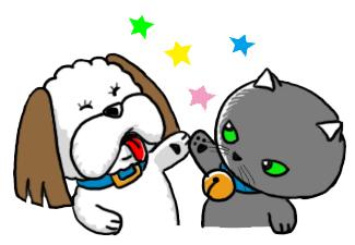 ウンコ犬と猫のぷん+ピコ_a0044064_16491255.jpg