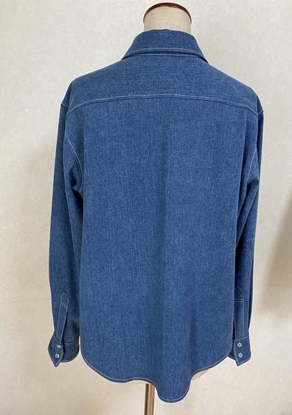 デニムシャツと秋のワイドパンツを作りました♪_c0319009_11365567.jpg