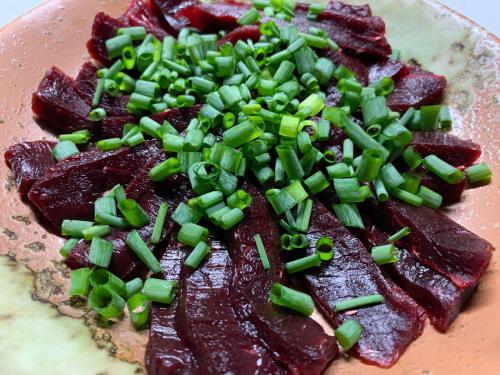 萩シーマートで購入した鯨肉と栄螺と東洋の女神_d0025421_08235057.jpg