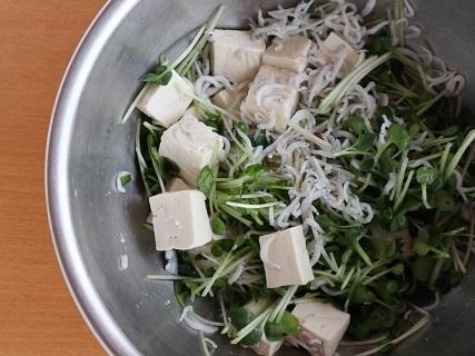 かいわれと豆腐のサラダ_a0124015_07162412.jpg