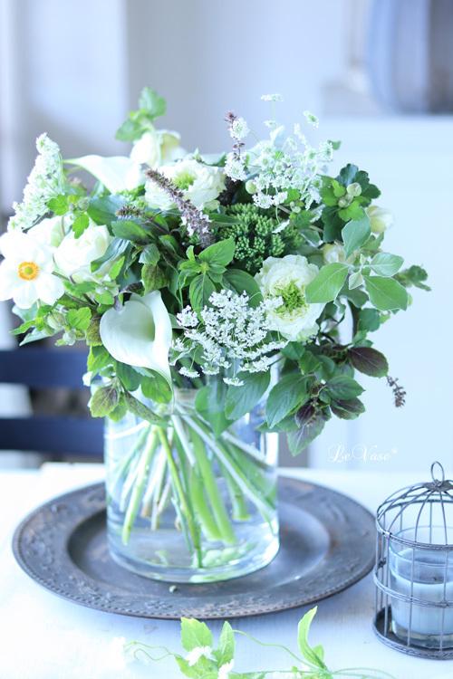 9月Living flowerクラス 『White&Green bouquet !』_e0158653_20033912.jpg