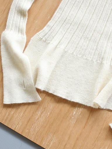 unfil royal baby suri alpaca ribbed-knit hight neck pullover / natural_b0139281_757446.jpg
