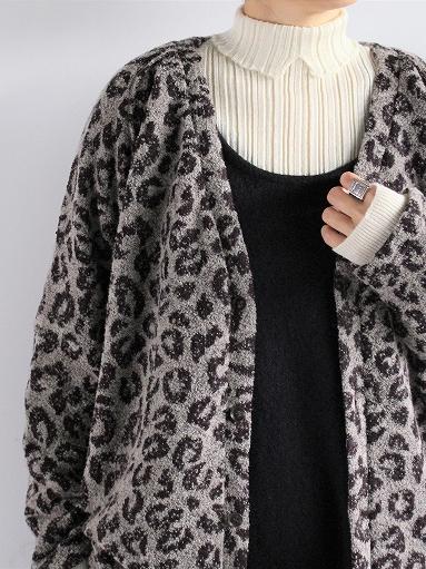 unfil royal baby suri alpaca ribbed-knit hight neck pullover / natural_b0139281_7574842.jpg