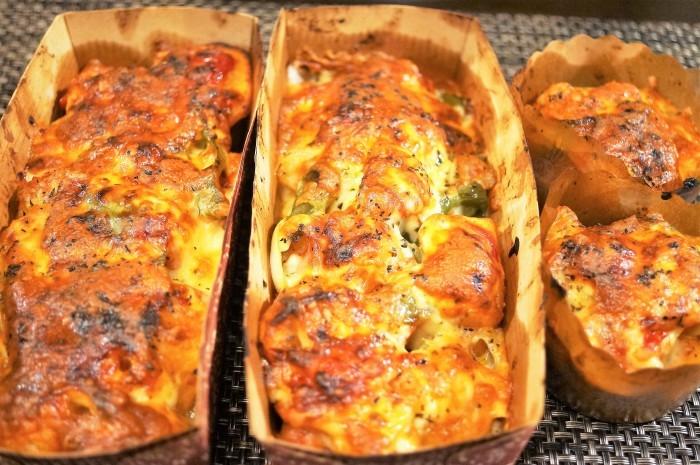 ■副菜【野菜とウインナーのオーブン焼き】マヨ・ケチャ・チーズでジューシー!!_b0033423_22344083.jpg