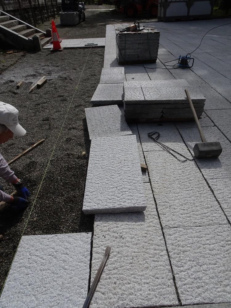 石畳敷き作業_c0111229_19324992.jpg