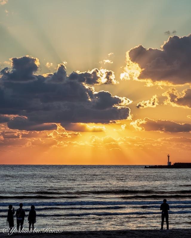 稲佐の浜の夕景_b0222467_08332629.jpg