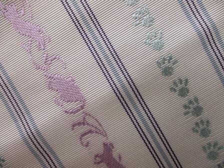 新作博多織八寸帯に猫柄の・・・_b0159571_11085869.jpg