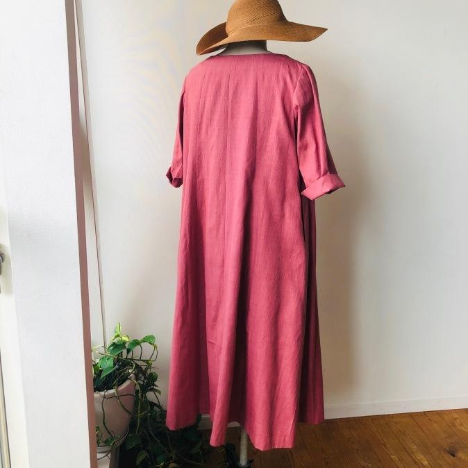 着物リメイク・無地のお着物からワンピース_d0127925_13394259.jpg