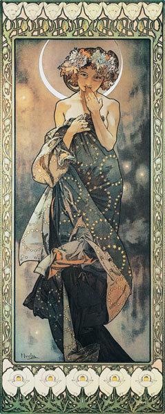 アルフォンス・ミュシャが描いた「月」_e0122611_06432661.jpg