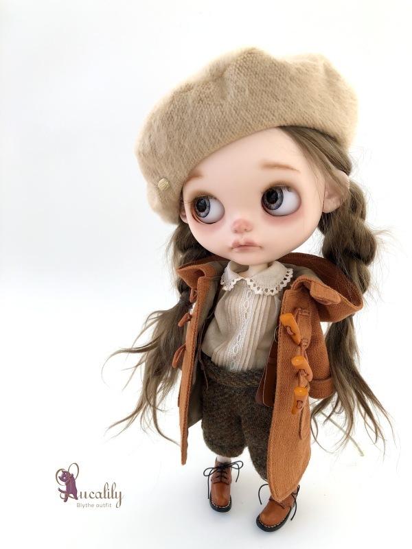 *lucalily * dolls clothes * Brown duffle coat set *_d0217189_10160153.jpeg