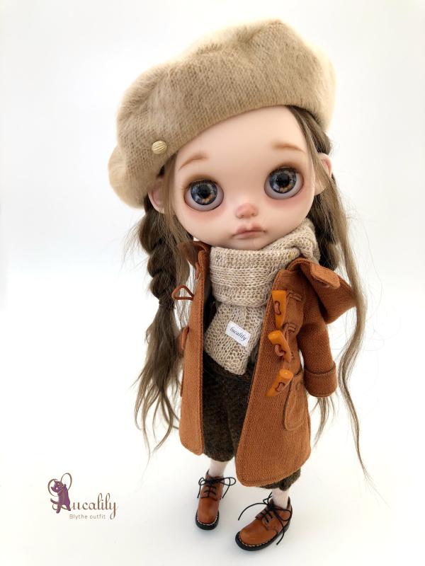 *lucalily * dolls clothes * Brown duffle coat set *_d0217189_10161969.jpeg