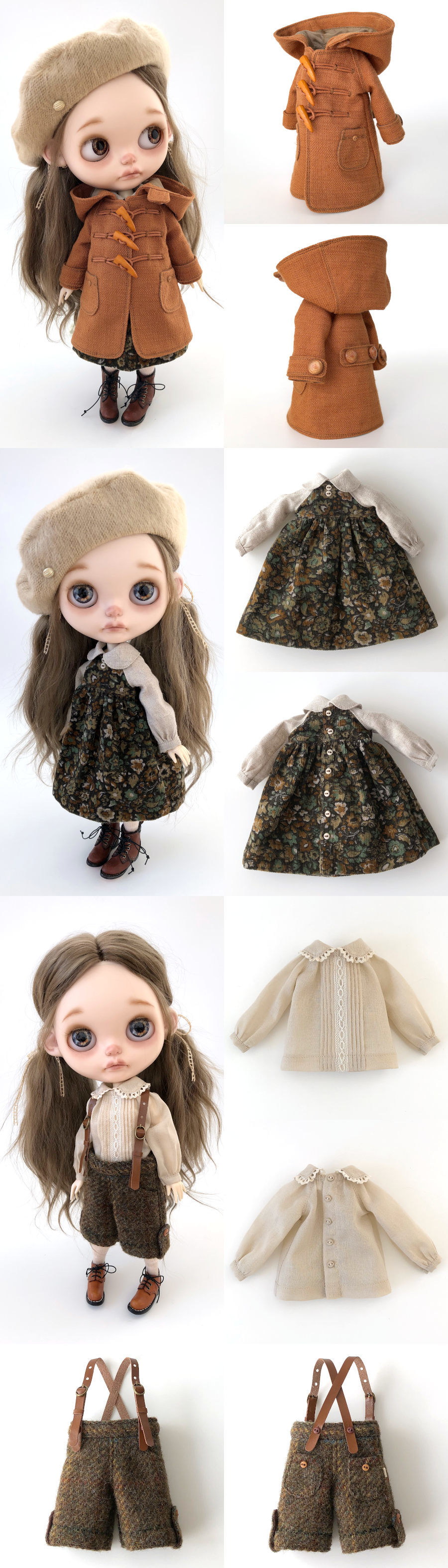 *lucalily * dolls clothes * Brown duffle coat set *_d0217189_10163561.jpeg