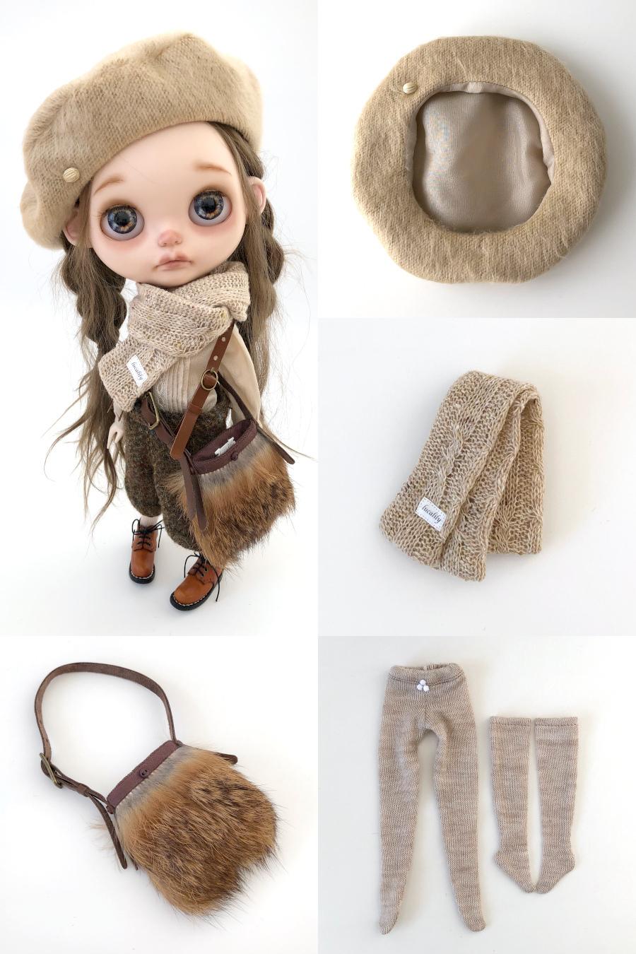 *lucalily * dolls clothes * Brown duffle coat set *_d0217189_10163960.jpeg