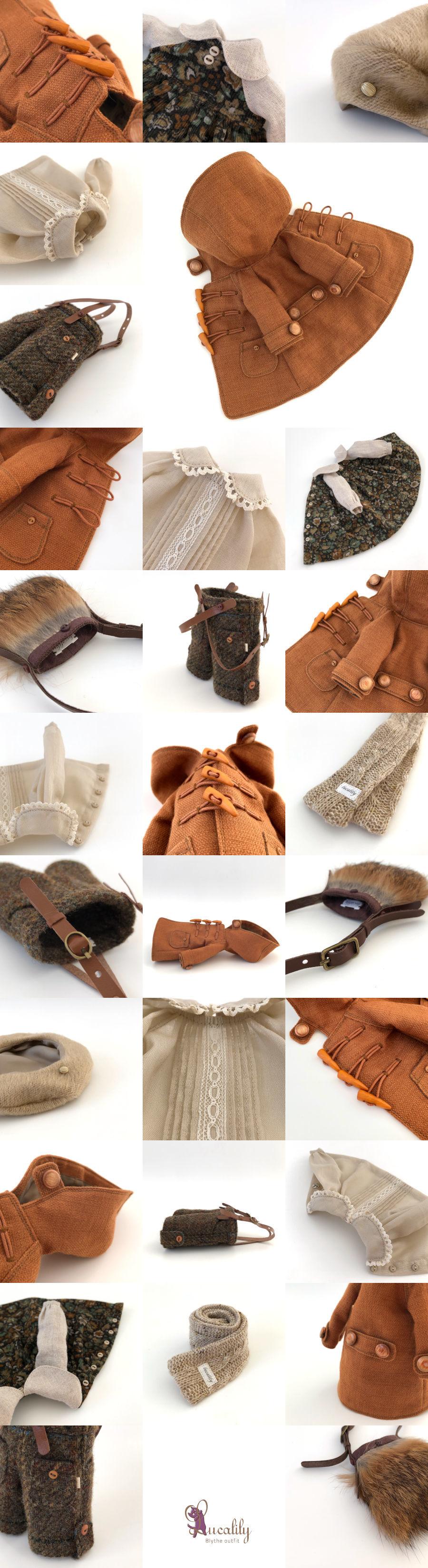 *lucalily * dolls clothes * Brown duffle coat set *_d0217189_10164731.jpeg