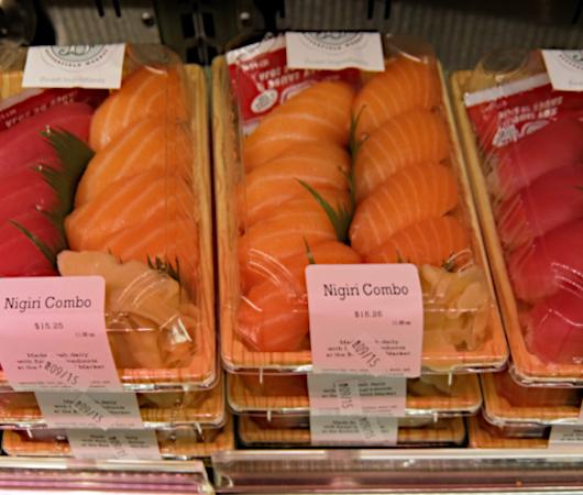 NYの老舗スーパー、バターフィールド・マーケットに初登場、自家製お寿司とピザのコーナー_b0007805_04504504.jpg