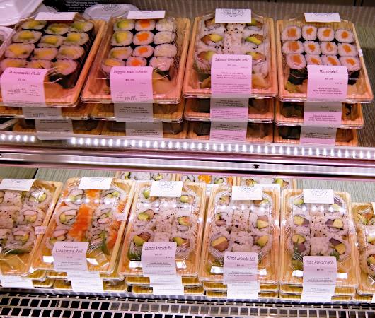 NYの老舗スーパー、バターフィールド・マーケットに初登場、自家製お寿司とピザのコーナー_b0007805_04515962.jpg